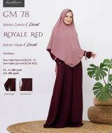 Gamis Premium Hai-Hai GM-78 Royal Red