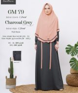 Gamis Premium Hai-Hai GM-79 Charcoal Grey