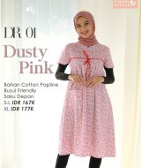 Daster Nibras DR-001 Dusty Pink