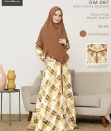Gamis Premium Hai-Hai GM-87 Almond Chocolate