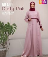Gamis Nibras NB-A59 Dusty Pink