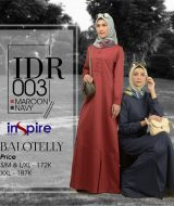 Dress Gamis Inspire IDR-003 Maroon Navy