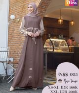 Gamis Nibras NSS-005 Rose Taupe