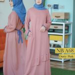 Gamis Nibras NB A68 Dusty Pink