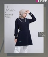 Blus Muslimah Alnita Lavi Blue Night
