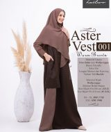 Gamis Premium Haitwo Aster Vest 001 Warm_Brown