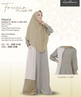 Gamis Premium Haitwo Freesia Couple 001 CREME_GOLD